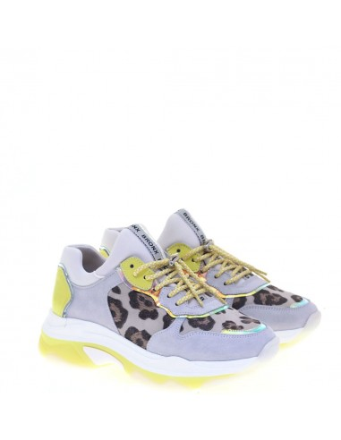 BRONX SNEAKERS DONNA GREY-LEOPARD