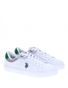 US POLO SNEAKERS WHI-GREEN