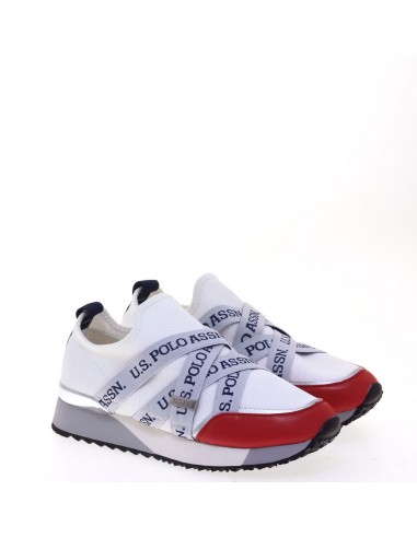 US POLO SNEAKERS WHI-RED