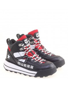 GUESS DONNA SNEAKERS BLK-RED