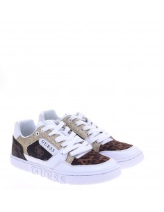 GUESS DONNA SNEAKERS WHI-BROWN